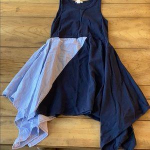 Crewcuts Girls (7) Handkerchief Navy Sundress